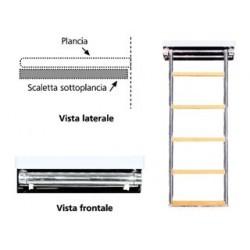SCALETTA SOTTOPLANCIA INOX 4 GRAD.